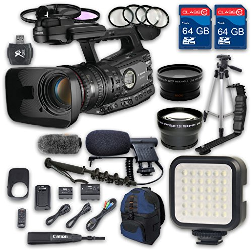 Canon XF305 HD Professional Camcorder + Wideangle Lens + ...