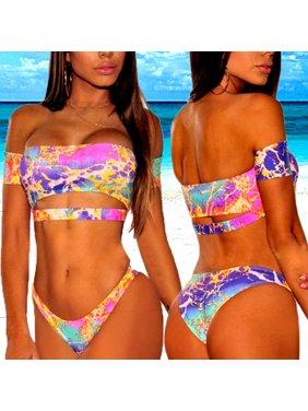 992bba4f15a Product Image Sexy Womens Leopard Bikini Set Push-up Padded High Waist Swimwear  Swimsuit Bathing Suit