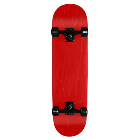 Blank Pro Complete Skateboard Stained Red 7.75 Black Wheels Black Trucks