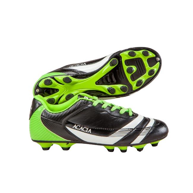 Acacia STYLE -37-212 Thunder Soccer Shoes - Black and Lime, 12A