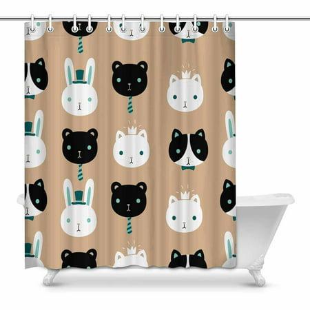 POP Cute Pet Bathroom Shower Curtain Set 60x72 inch - image 1 of 1