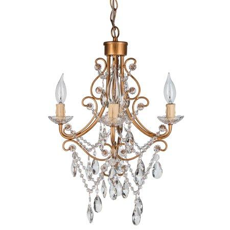 Amalfi Decor Antique 4 Light Crystal Chandelier Madeleine Collection L X W X