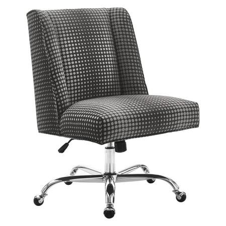 Draper Office Chair Gray Dot Chrome Base