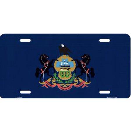Pennsylvania State Flag Metal License Plate - image 1 de 1