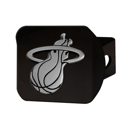 Miami Heat Black Hitch Cover 4 1/2