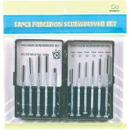 precision screwdriver set 12pc pack of 12. Black Bedroom Furniture Sets. Home Design Ideas