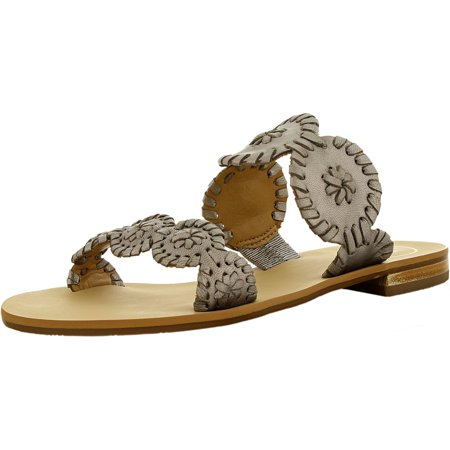 (Jack Rogers Women's Lauren Leather Pewter/Pewter Leather Sandal - 6M)
