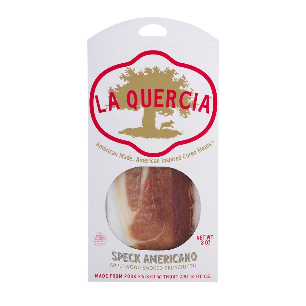La Quercia Speck Americano Applewood Smoked Prosciutto, 3.0 OZ by La Quercia