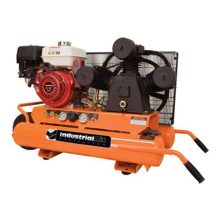 9 Gal. Portable Wheelbarrow Air Compressor with 9 HP Electric Start Honda Gas