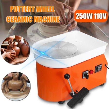 110V 250W Electric Pottery Wheel Machine Ceramic Work Clay Art Craft - Clay Wheel