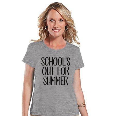 Custom Party Shop Womens School's Out For Summer T-shirt - Medium