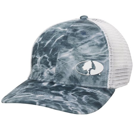 Elements Performance Mesh back Stretch Fit Fishing Cap; Spindrift Blue; Small / (Medium Burner Cap)