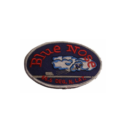Polar Bear Patch - USN NAVY BLUE NOSE PATROL PATCH ARTIC CIRCLE CROSSING DOMAIN OF THE POLAR BEAR