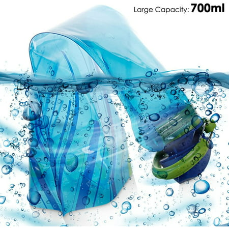 Foldable Water Bottle Set of 3, MAXIN Flexible Collapsible Reusable Water Bottles for Hiking,Adventures, Traveling, 700ML. - image 4 of 5