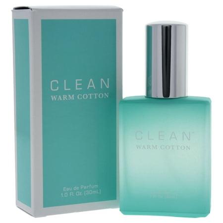 Clean Warm Cotton Eau De Parfum Spray, Unisex Fragrance, 1 Oz