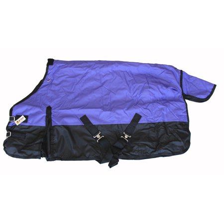 - Pony Horse Turnout Blanket Rip Stop 600D Water Proof 300G Medium Weight Purple