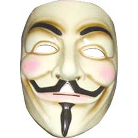 Rubies V for Vendetta Adult Mask- - Hell Raiser Mask
