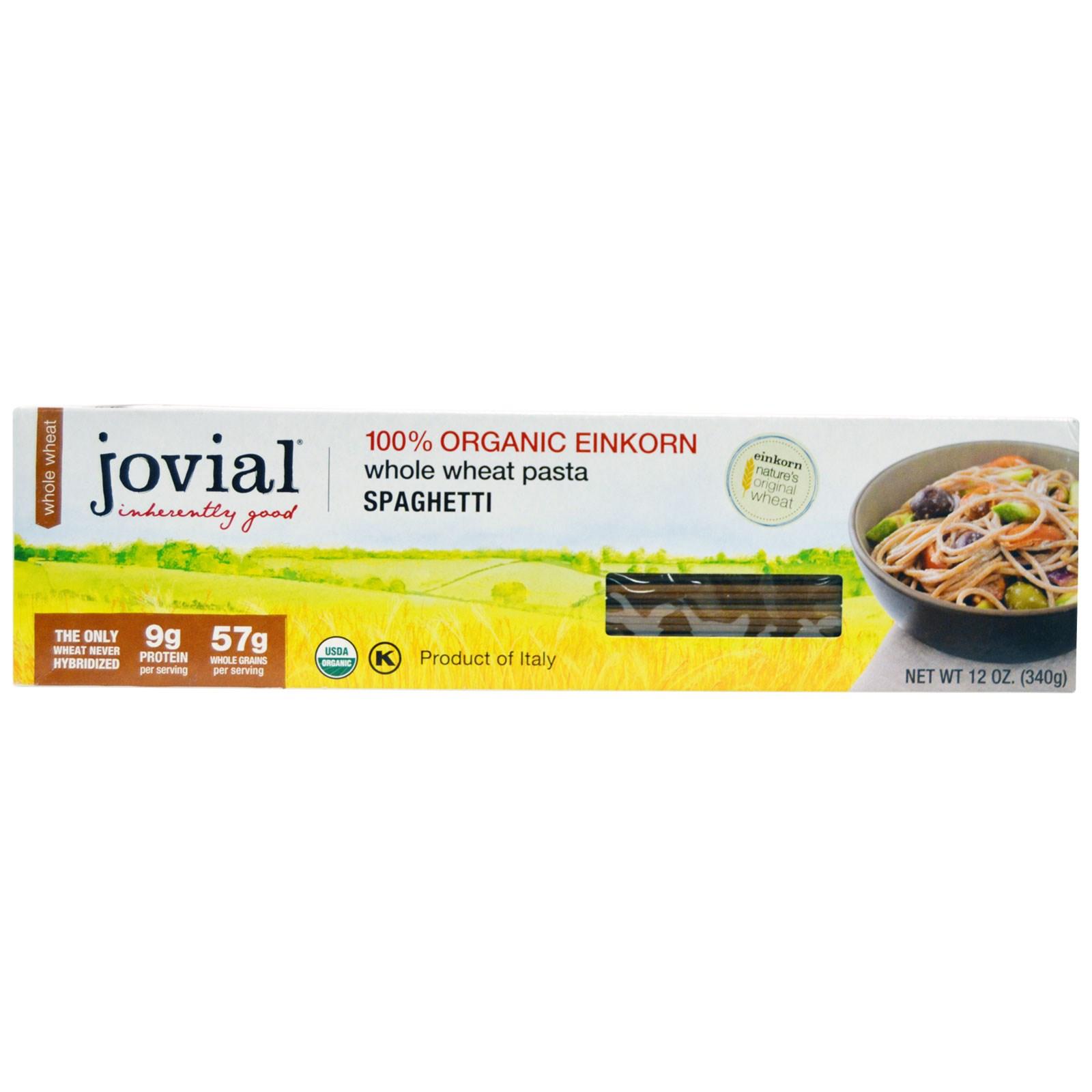 Jovial, Whole Wheat Pasta, Spaghetti, 12 oz(pack of 12)