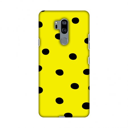 LG G7 Case, LG G7 ThinQ Case, Slim Fit Handcrafted Designer Printed Snap on Hard Shell Case Back Cover - Lady Bug - Yellow And Black Dots](Yellow Lady Bug)