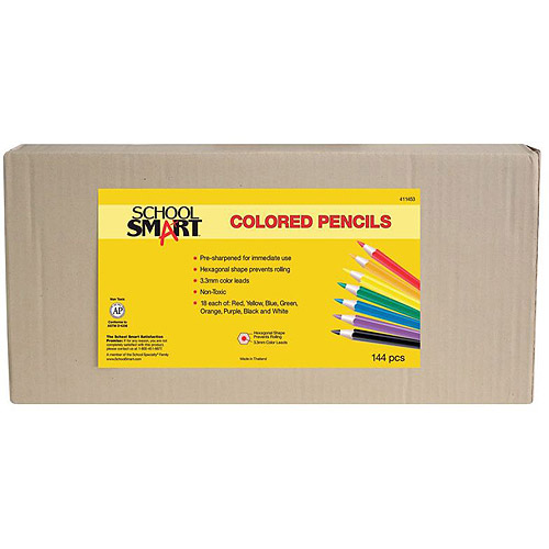 School Smart Colored Pencils Classpack, 144 Count