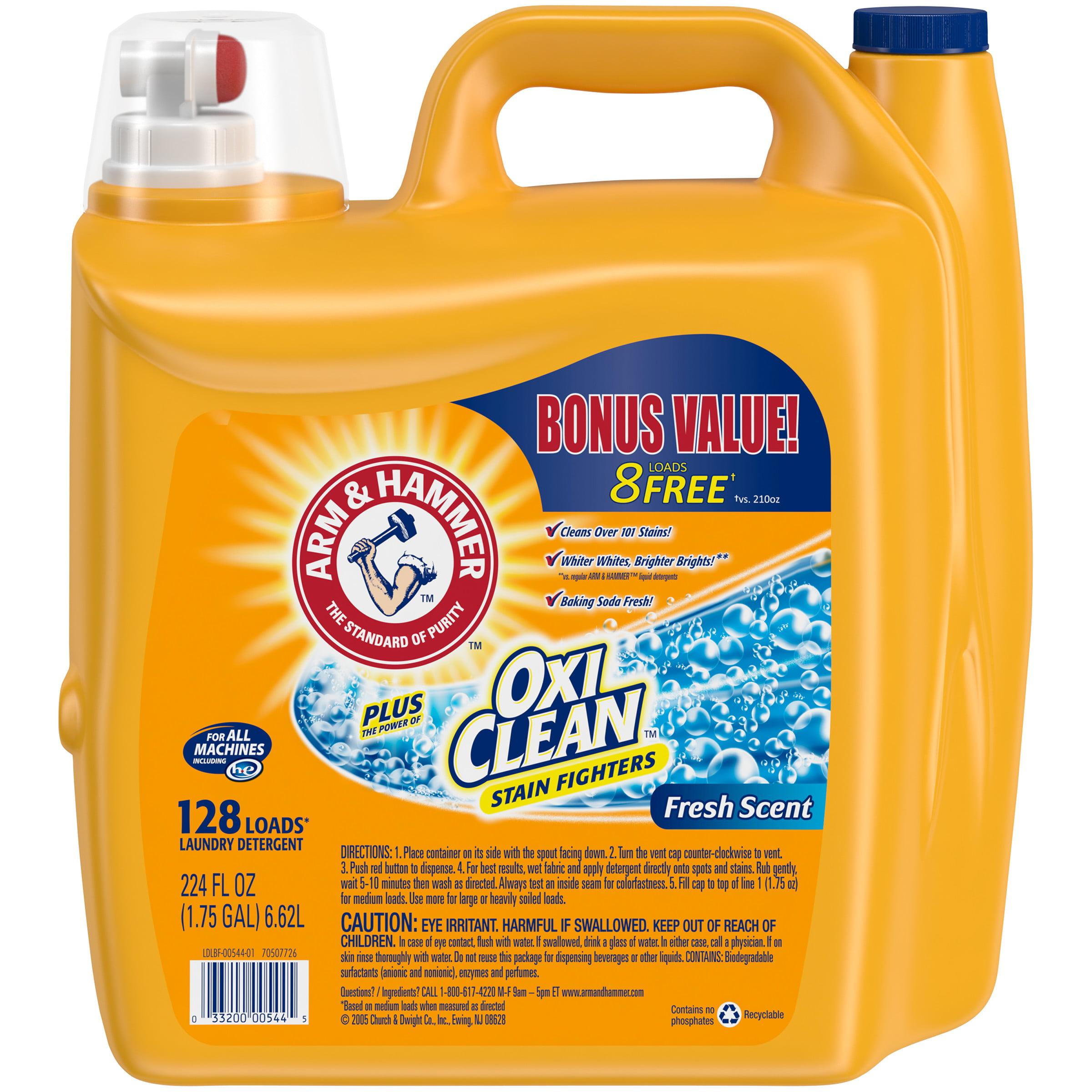 Arm & Hammer Plus OxiClean Fresh Scent Liquid Laundry Detergent, 224 fl oz
