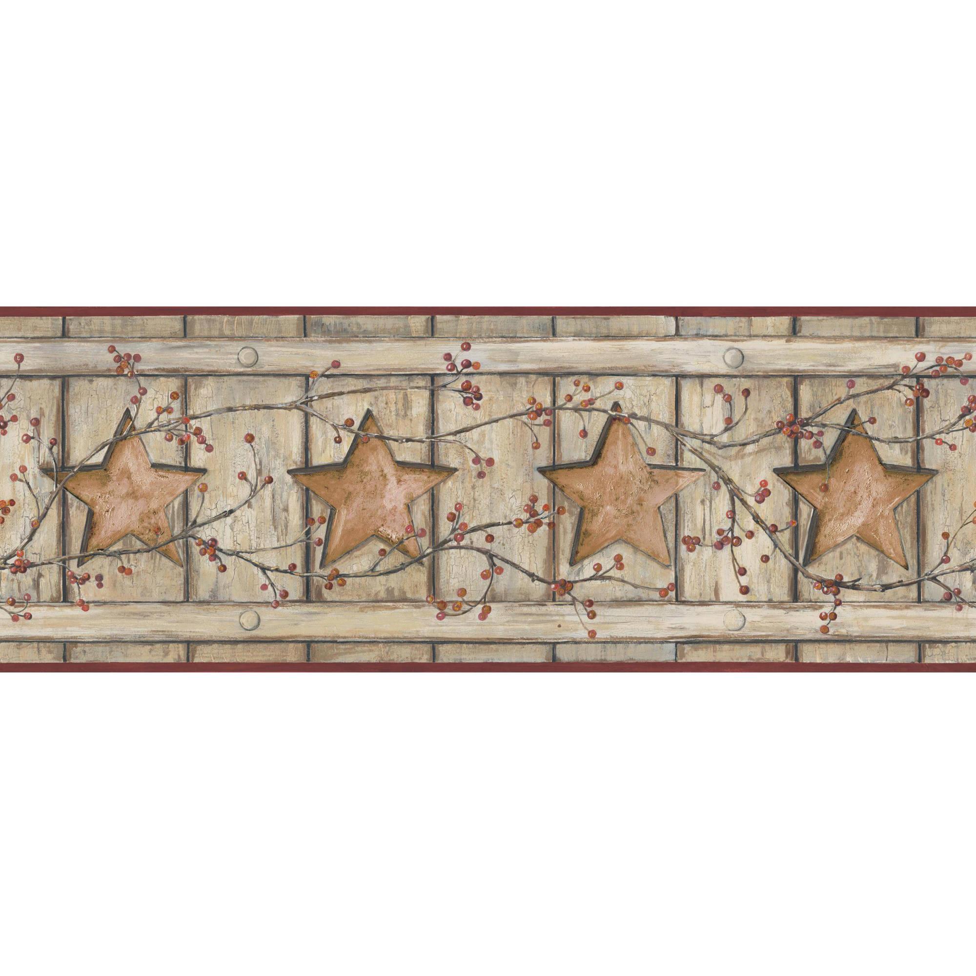 Country Keepsakes Country Cutout Star Wallpaper