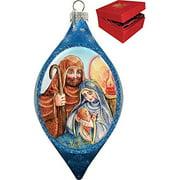 GDeBrekht 757-021 Nativity Glass Ornament Drop