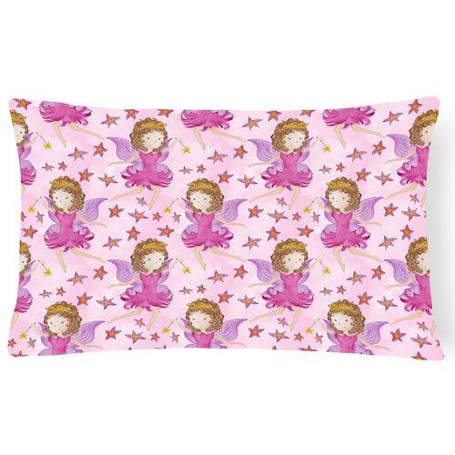 Zoomie Kids Jacinta Watercolor Fairy Princess Indoor/Outdoor Throw Pillow