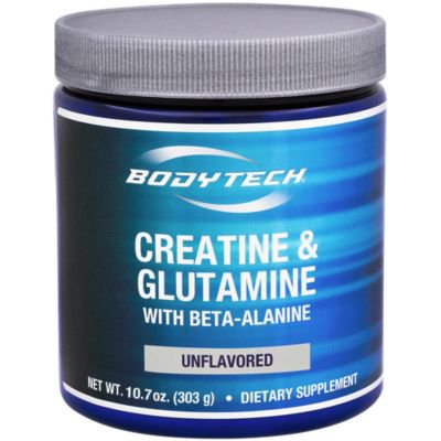 BodyTech Creatine  Glutamine 5GM with Beta Alanine Unflavored  Supports Muscle Growth, Recovery  Immune Health (10.8 Ounce