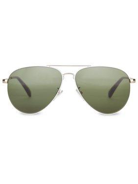 TOMS Sunglasses Maverick 301 Gold and White   Green Lens