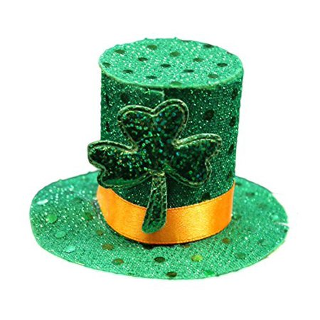 Lucky Leprechaun Mini Top Hat Saint Patrick's Day Hair Clip, One Size Fits All](Tiny Leprechaun Hat)