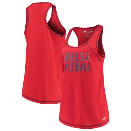 Women's Majestic Red Los Angeles Angels TX3 Cool Fabric Scoop Neck Tank (Angels Top)