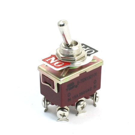 Panel Mount DPDT ON/OFF 2 Position 6 Pin Toggle Switch  250V 15A E-TEN1321