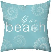 Checkerboard, Ltd Life is a Beach Outdoor Throw Pillow