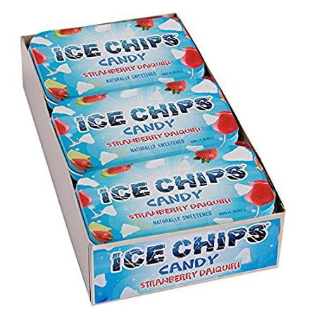 Lifesaver Rum - ICE CHIPS Xylitol Candy, Strawberry Daiquiri (6 Tins)