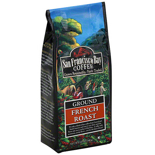 San Francisco Bay Coffee French Roast Ground Coffee, 12 oz (Pack of 6)