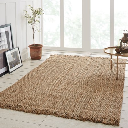 Superior Bohemian 100 Natural Hand Woven Jute Area Rug With Fringes 2