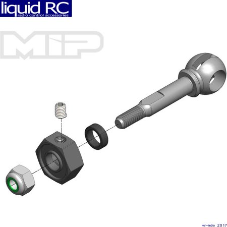 MIP 18141 MIP X-Duty CVD Axle 10mm Offset w/ 5mm Bearing (Mip Cvd Axle)