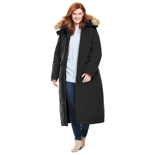 Woman Within Women's Plus Size The Arctic Parka™ in Extra Long Length Coat