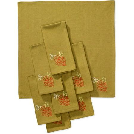 Better Homes And Gardens Embroidered Oak Leaf Napkins Set