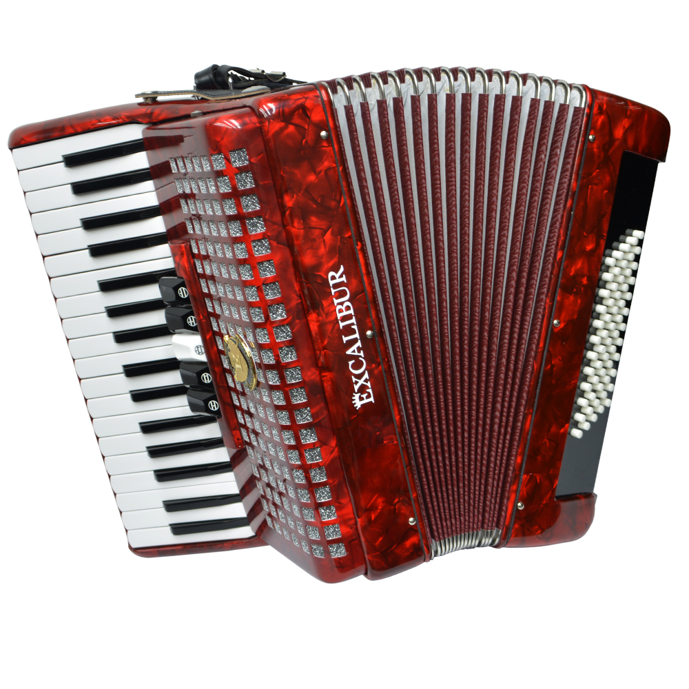 Excalibur Super Classic 60 Bass Accordion Red by