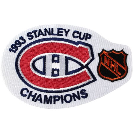 1993 NHL Stanley Cup Finals Champions Montreal Canadiens Haabs Patch