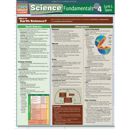 Science Element Chart - QuickStudy Bar Chart: Science Fundamentals 4 - Earth & Space