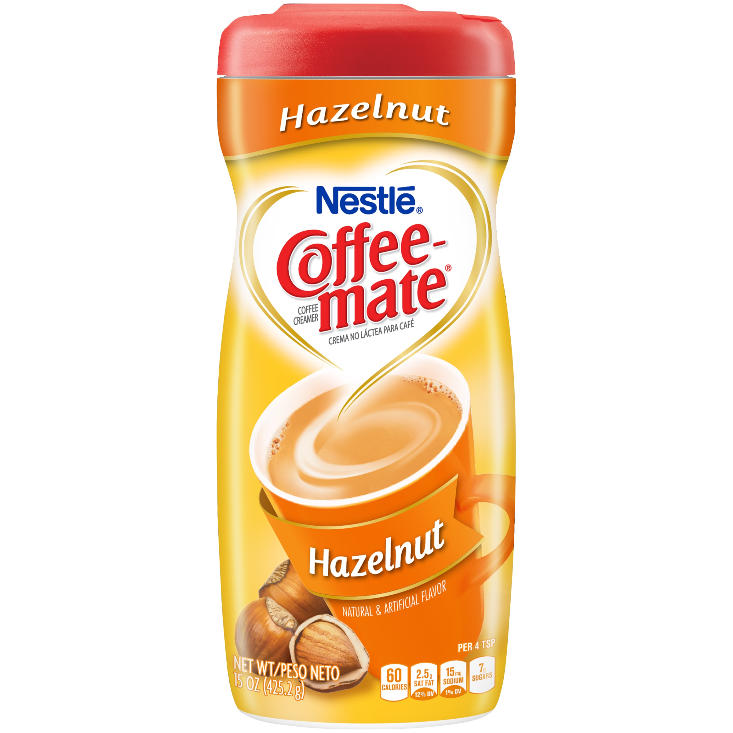 (3 pack) COFFEE MATE Hazelnut Powder Coffee Creamer 15 oz. Canister