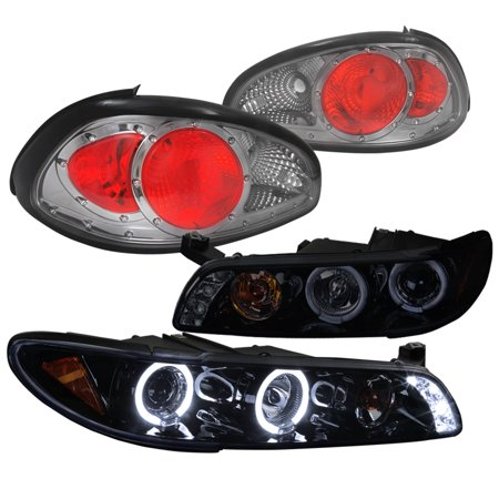 Spec D Tuning 1997 2003 Pontiac Grand Prix Smoked Lens Halo Projector Headlights Tail Lights 1998 1999 2000 2001 2002 Left Right