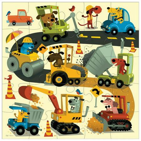 "Mudpuppy Jumbo Construction Site Puzzle for Ages 2 to 5 – 25 Piece Construction Equipment Puzzle, Measures 22"" Square - image 4 de 5"