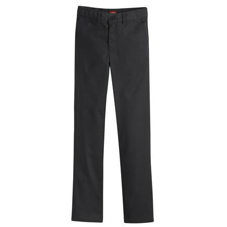 Genuine Dickies Girls School Uniform Flex Slim Fit Straight Leg Flat Front Pants (Little Girls) (Uniforms Dickes Women)