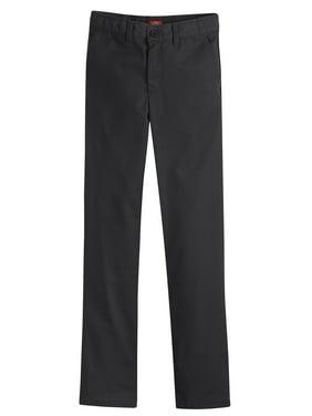 Genuine Dickies Girls School Uniform Flex Slim Fit Straight Leg Flat Front Pants (Little Girls)
