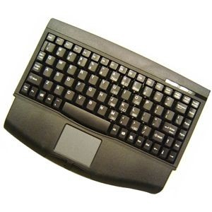 Adesso Mini PS/2 Touchpad Keyboard, Black