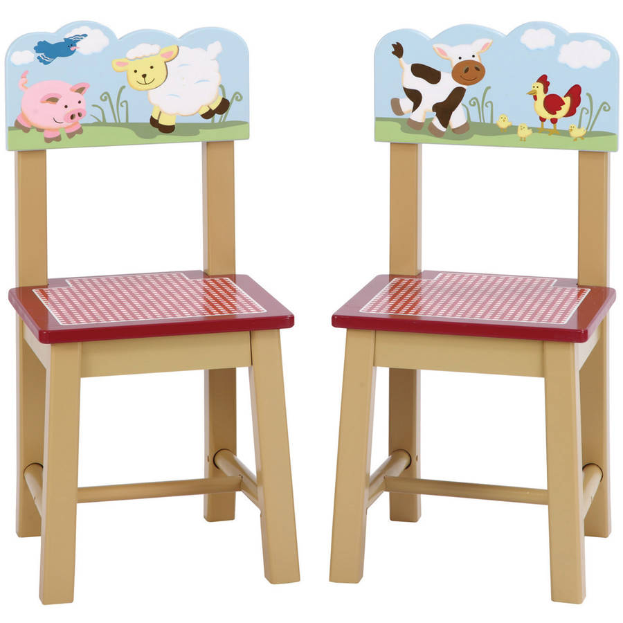 Guidecraft Farm Friends Chairs, Set of 2